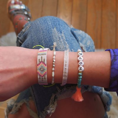 Electric Dreams | seedbeads, bracelets |