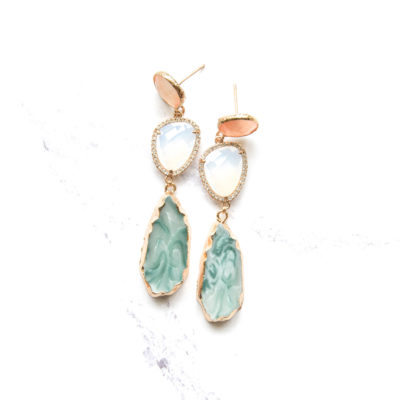 Marcelle (Green) Earrings | marcelles, earrings |