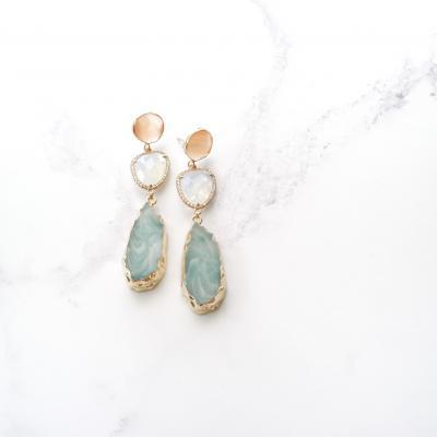 Marcelle (Green) Earrings | marcelles, earrings, best-sellers |
