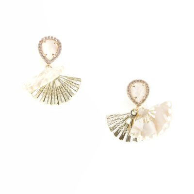Maiko Drops | fan, earrings |