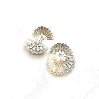 Peranakan Fan Earrings II | fan, earrings |