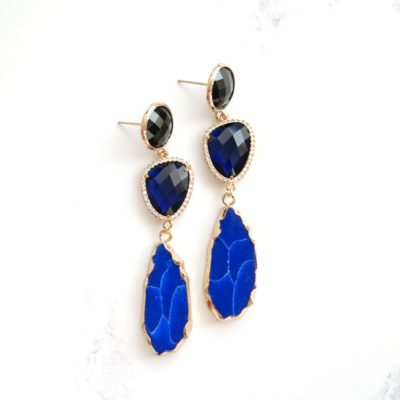 Marcelle (Dark Blue Ombre) Earrings | marcelles, earrings |