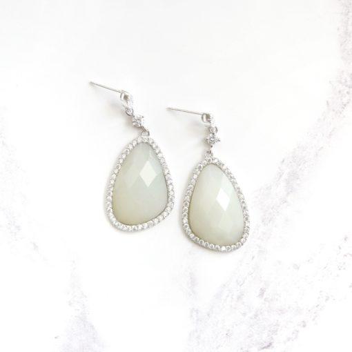 Shiro | Icy Jade Earrings | jade, semi-precious-earrings, earrings |