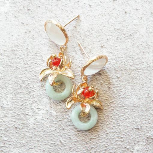 Hasu | new-arrivals, jade, semi-precious-earrings, earrings |