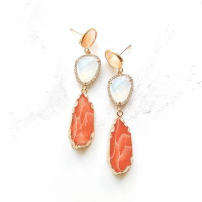 Marcelle (Red) Earrings | new-arrivals, semi-precious-earrings, earrings |