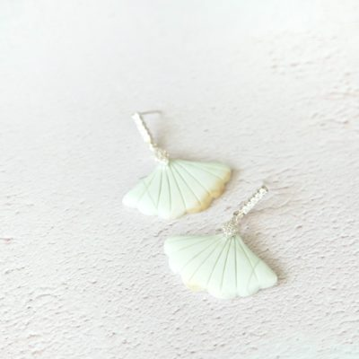 Uchiwa | new-arrivals, semi-precious-earrings, fan, earrings |