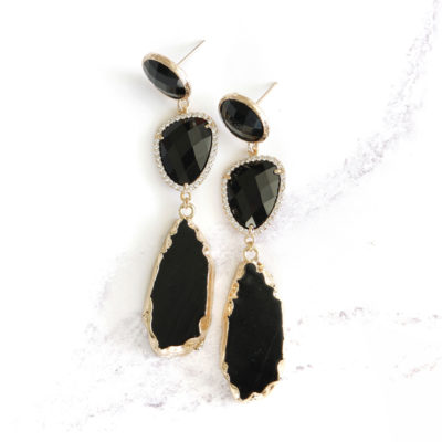 Marcelle (Black) Earrings | new-arrivals, marcelles, earrings |