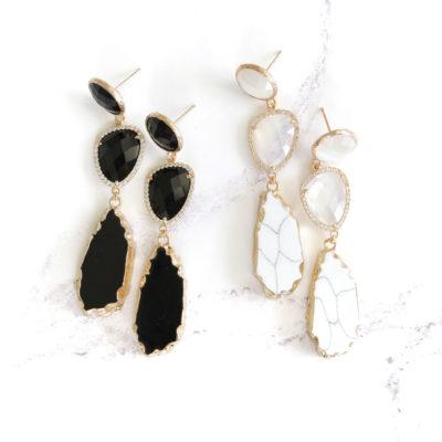 Marcelle (Black) Earrings | new-arrivals, marcelles, earrings |