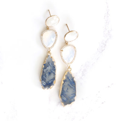 Marcelle (Grey Blue) Earrings | new-arrivals, marcelles, earrings |