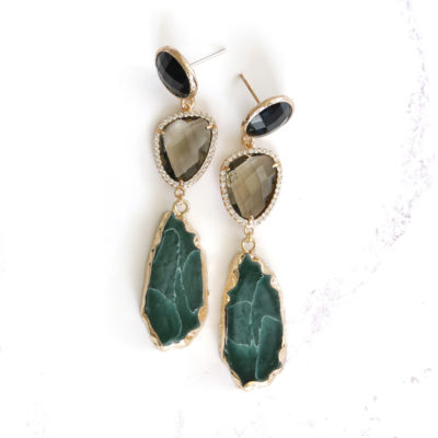 Marcelle (Dark Teal) Earrings | new-arrivals, marcelles, earrings |