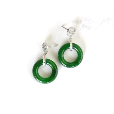 Green Jade Drops | new-arrivals, jade, earrings |